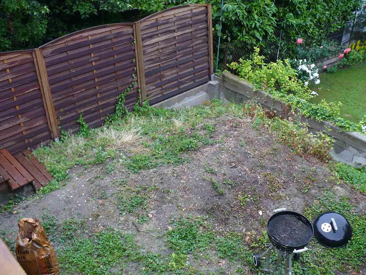 Première vue du jardin avant chantier