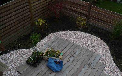Aménagement d'un petit espace de jardin