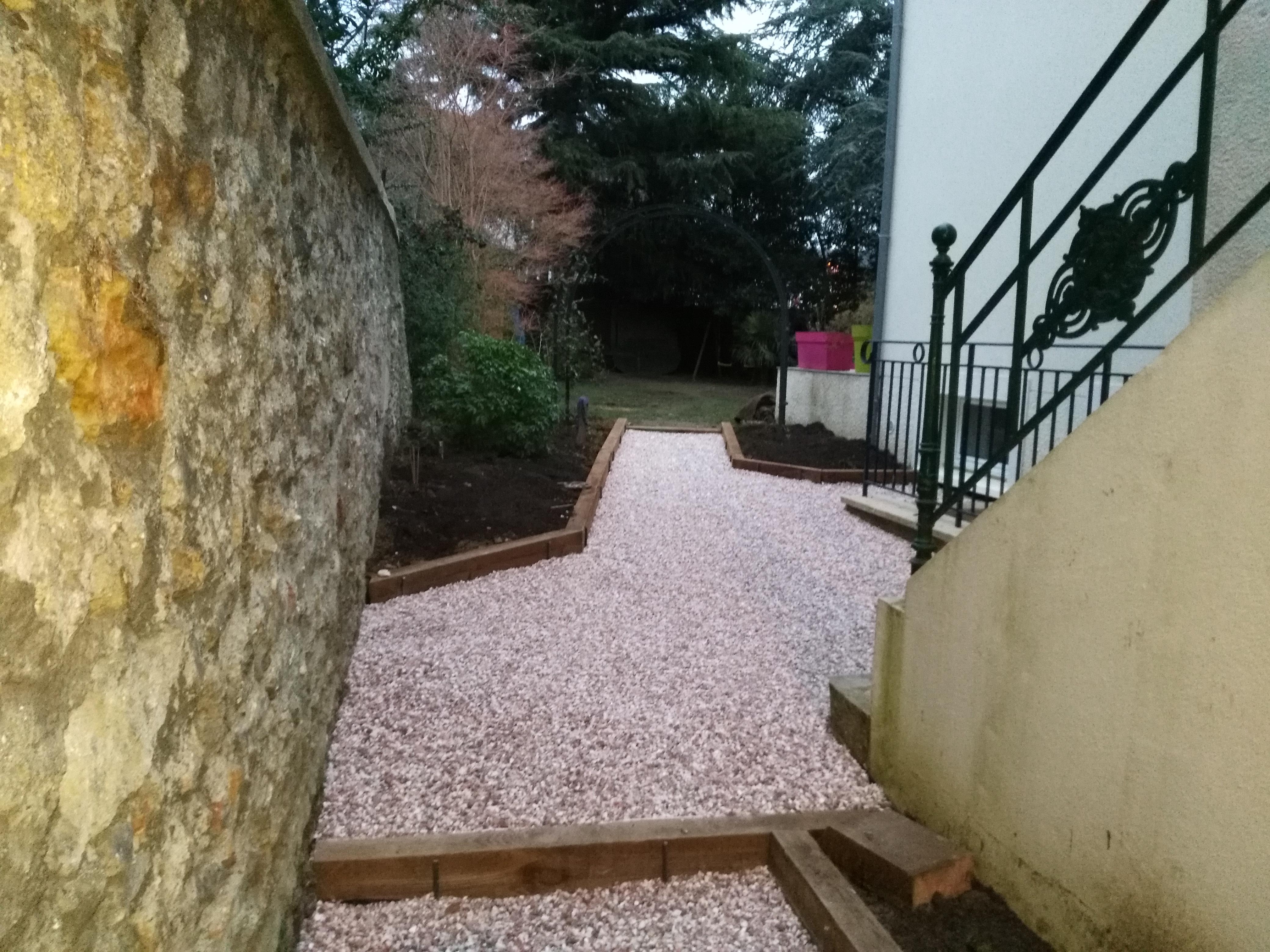 Chantier terminé : L'espace de transition avant le jardin