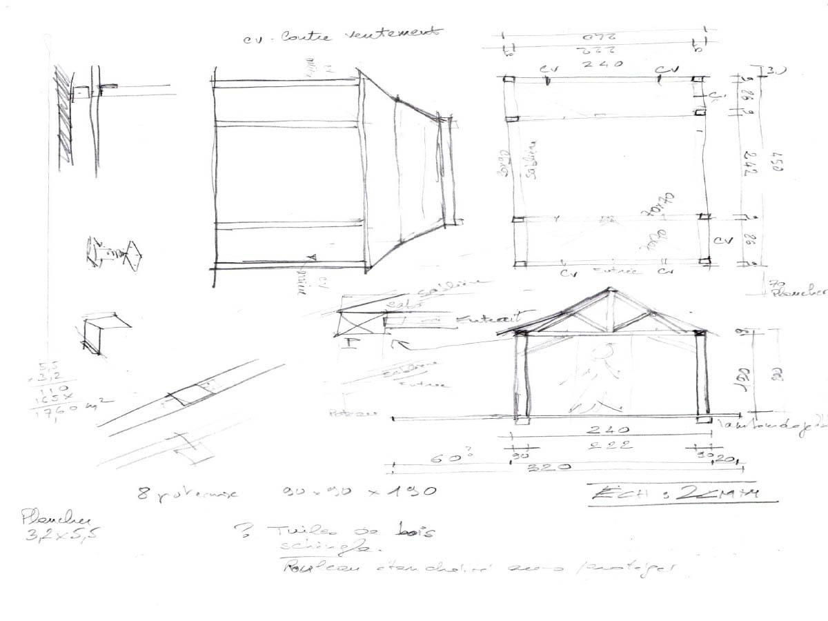 Un espace zen : la construction d\'un kiosque - Jardin et ...