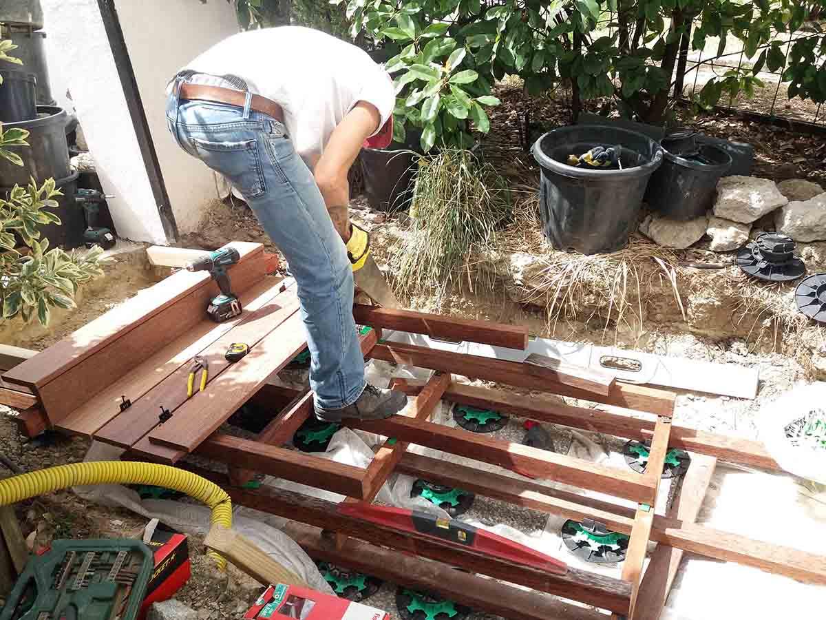 Aménagement entrée pendant chantier 4
